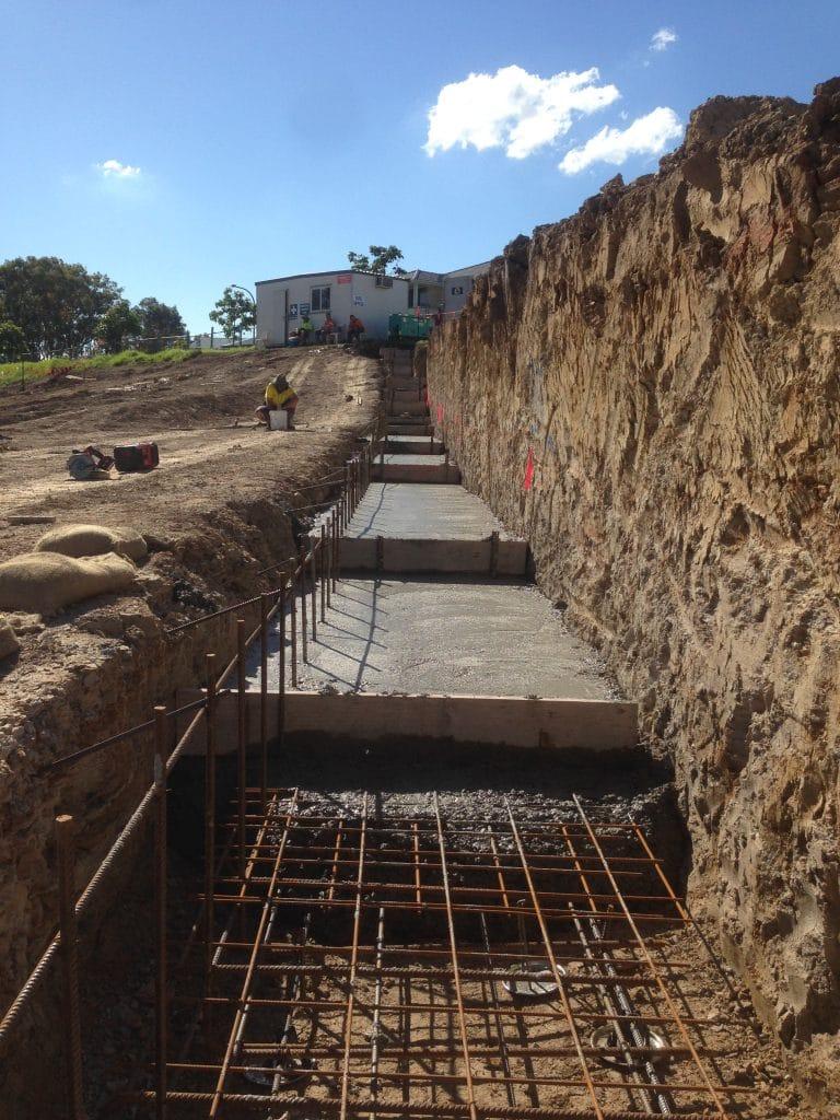 Retaining Wall Footing -
