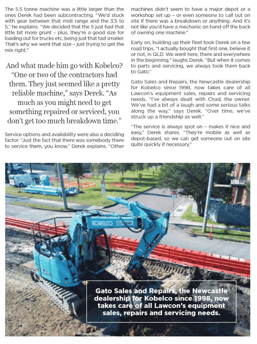Lawcon as Featured on Australian Earthmoving Magazine »